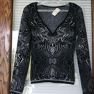 artelier nicole miller metallic sweater SM